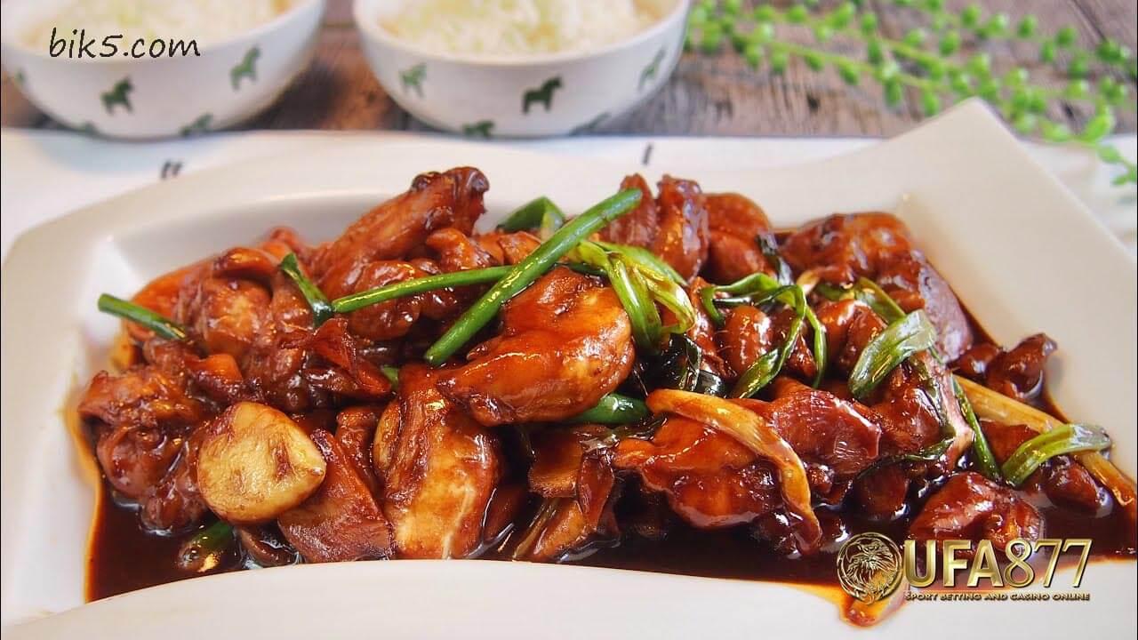 ไก่จีนง่ายๆกับซอสหอยนางรม